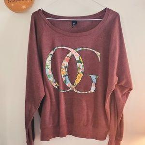Obey Burgundy OG Floral Sweatshirt (RARE)